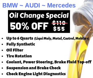 BMW Oil Change Special
